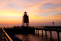 Charlevoix-Lighthouse-at-Sunset