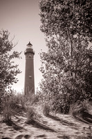 Little-Sable-Lighthouse-BW