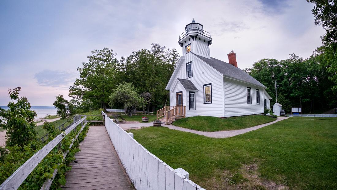Old-Mission-Lighthouse-Fisheye