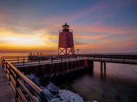 Charlevoix-Lighthouse-at-Sunset-2